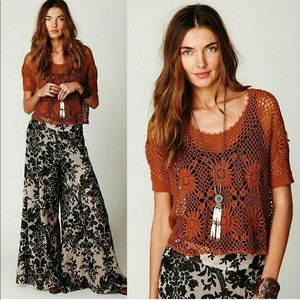 Free People New Romantics In Bloom Crochet Top